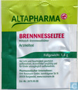 Tea bags and Tea labels - Altapharma (Rossmann) - Brennnesseltee