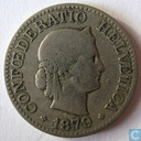 Switzerland 10 rappen 1879
