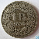 Switzerland 1 franc 1886