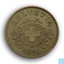 Switzerland 10 rappen 1876