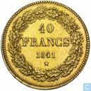 Most valuable item - Belgium 40 francs 1841