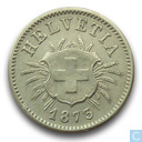 Switzerland 5 rappen 1873