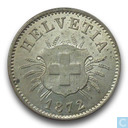 Switzerland 5 rappen 1872
