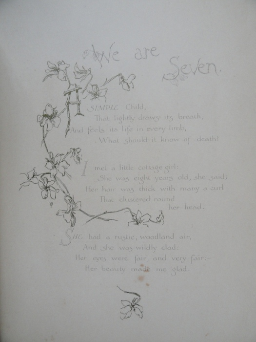 we are seven by william wordsworth We are seven by william wordsworth a simple child that lightly draws its breath and feels its life in every limb, what should it know of death.