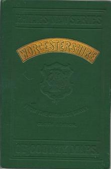 Countymap of Worcestershire