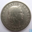 Switzerland 20 rappen 1887
