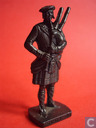 Bagpipe player (bronze)