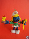 Smurfette with candlestick