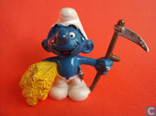 Farmer Smurf with Scythe