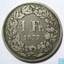 Switzerland 1 franc 1877