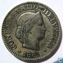 Switzerland 10 rappen 1881