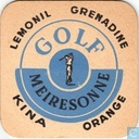 Beermat - Belgium - Golf Lemonil Grenadine Kina Orange / Celta-pils Belge-Ganda Fort-op Goliath (volledige viking)