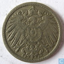 Coins - Germany - German Empire 5 pfennig 1908 (F)