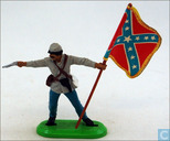 Confederate soldier Standard Bearer