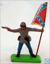 Toy soldier - Britains - Confederate soldier with standard