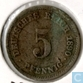 German Empire 5 pfennig 1890 E