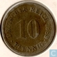 German Empire 10 pfennig 1889 F