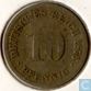 German Empire 10 pfennig 1876 D
