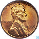 Coins - United States - USA 1 cent 1955