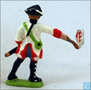 Toy soldier - Nrnberger Meisterzinn - Cannoneer 