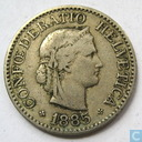 Switzerland 10 rappen 1885
