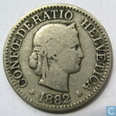 Switzerland 10 rappen 1882