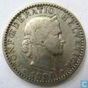 Switzerland 20 rappen 1884