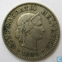 Switzerland 5 rappen 1884