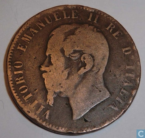 Pieve Emanuele Italy  City pictures : Italy 10 centesimi 1867 N Italy coins Catawiki
