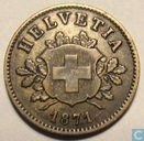 Switzerland 10 rappen 1871