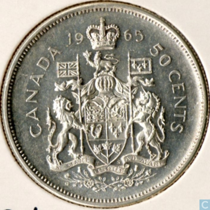 Value Of 1965 Canadian 50 Cent Coin