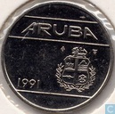 Aruba 25 cents 1991