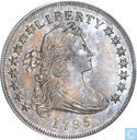 "Kostbaarste item - Verenigde Staten dollar 1795 ""bust off center"""