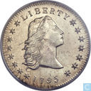"Most valuable item - United States 1 dollar 1795 ""Flowing hair, three leaves"""