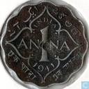 Coins - British East India - British India 1 anna 1941 (Calcutta)