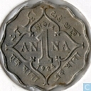 Coins - British East India - British India 1 anna 1924 (Calcutta)