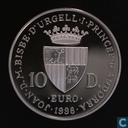 "Andorra 10 diners 1998 (PROOF) ""Human Rights"""