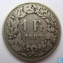 Switzerland 1 franc 1887