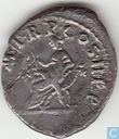 Roman Empire Denarius of the Emperor Trajan 99 AD.