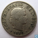 Switzerland 5 rappen 1889