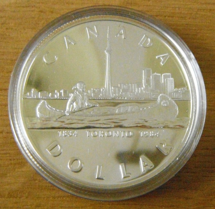 canada 1 dollar 5 different coins various themes 1977. Black Bedroom Furniture Sets. Home Design Ideas
