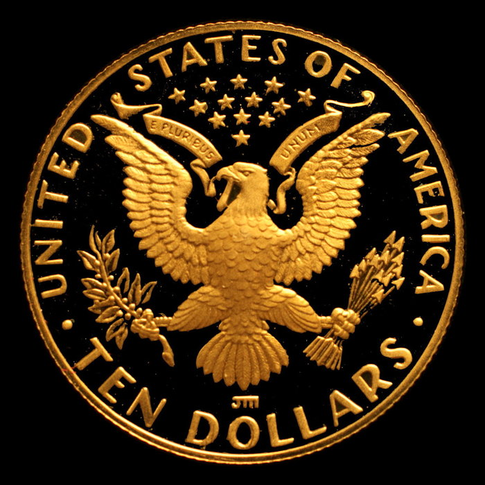 United states 10 dollar eagle olympic games los angeles 1984