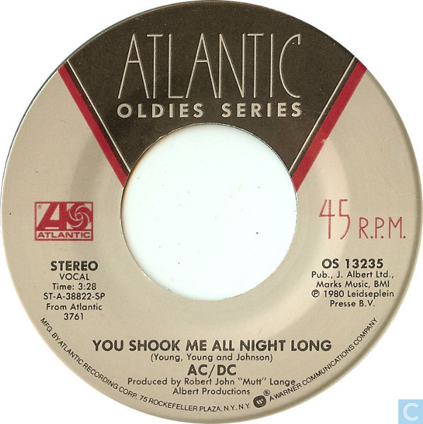 Vinyl records and cds - ac/dc - you shook me all night long