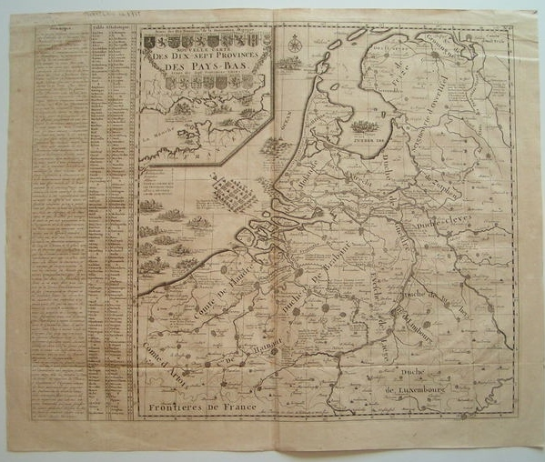 the netherlands zacharias chatelain nouvelle carte des dix sept provinces des pays bas 1725. Black Bedroom Furniture Sets. Home Design Ideas