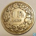 switzerland 1 franc 1907