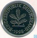 Germany 5 pfennig 1998 (J)