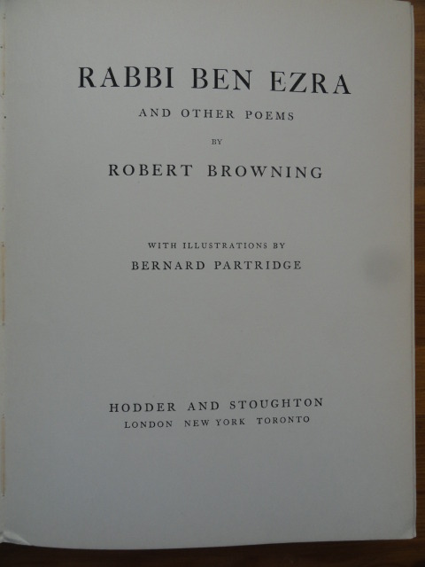 rabbi ben ezra essays Dive deep into robert browning's rabbi ben ezra with extended analysis, commentary, and discussion.