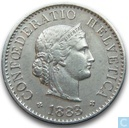 Switzerland 5 rappen 1883