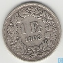 Switzerland 1 franc 1903
