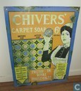 Emaille reclamebord Chivers Carpet Soap